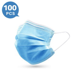 3-ply Disposable Protection Mask Breathable and Skin Friendly(100 PCS)