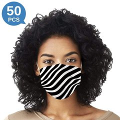 Multicolor Stripe Printed Disposable Face Mask Adult 3-ply (50 PCS - Any 2 colors)