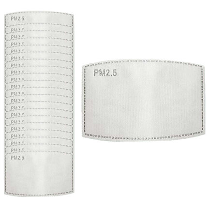 5-PLY PM2.5 Activated Carbon Filter Anti Haze Replaceable