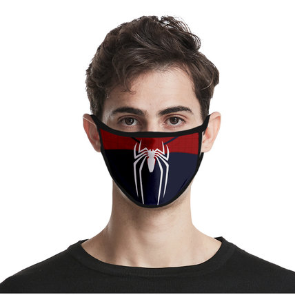 Unisex 3D Printed Spiderman Face Mask Breathable, Comfortable, Protective