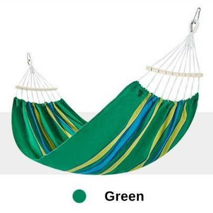 Single Outdoor Cotton Hammock Hanging Swing Bed