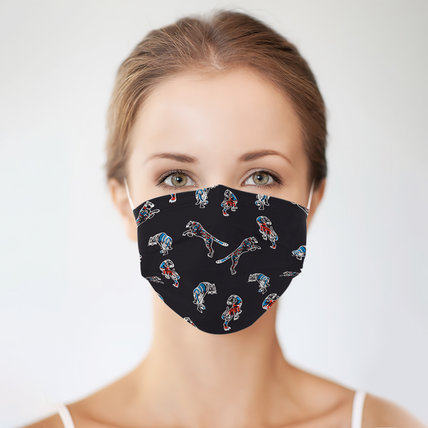 Multicolor Cartoon Print Disposable Face Mask Adult 3-ply (50 PCS - Any 5 colors)