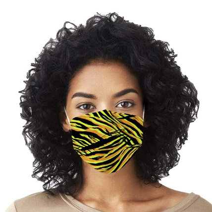 Multicolor Zebra Stripe Printed Disposable Face Mask Adult 3-ply (50 PCS - Any 4 colors)