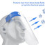 Safety Face Shield Transparent Full Face Breathable Face Shield (3 PCS)