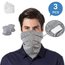 Cycling Face Bandana Scarf with safety pm2.5 Filter (3 PCS)